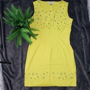 Casual Corner Yellow Sheath Tank Dress
